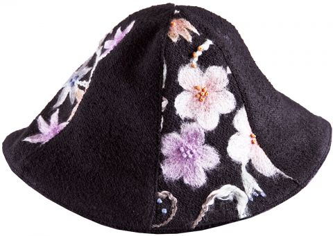E-Pattern Reversible Hat CLOCHE Ladies Girls Dolls