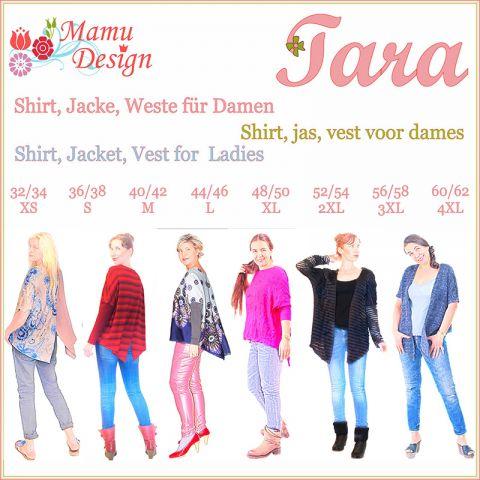 Schnittmuster und Nähanleitung TARA Shirt Jacke Weste Damen
