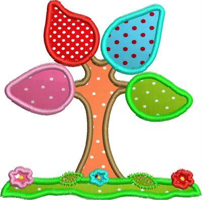 Applikationen für die Stickmaschine, Stickdatei, Baum