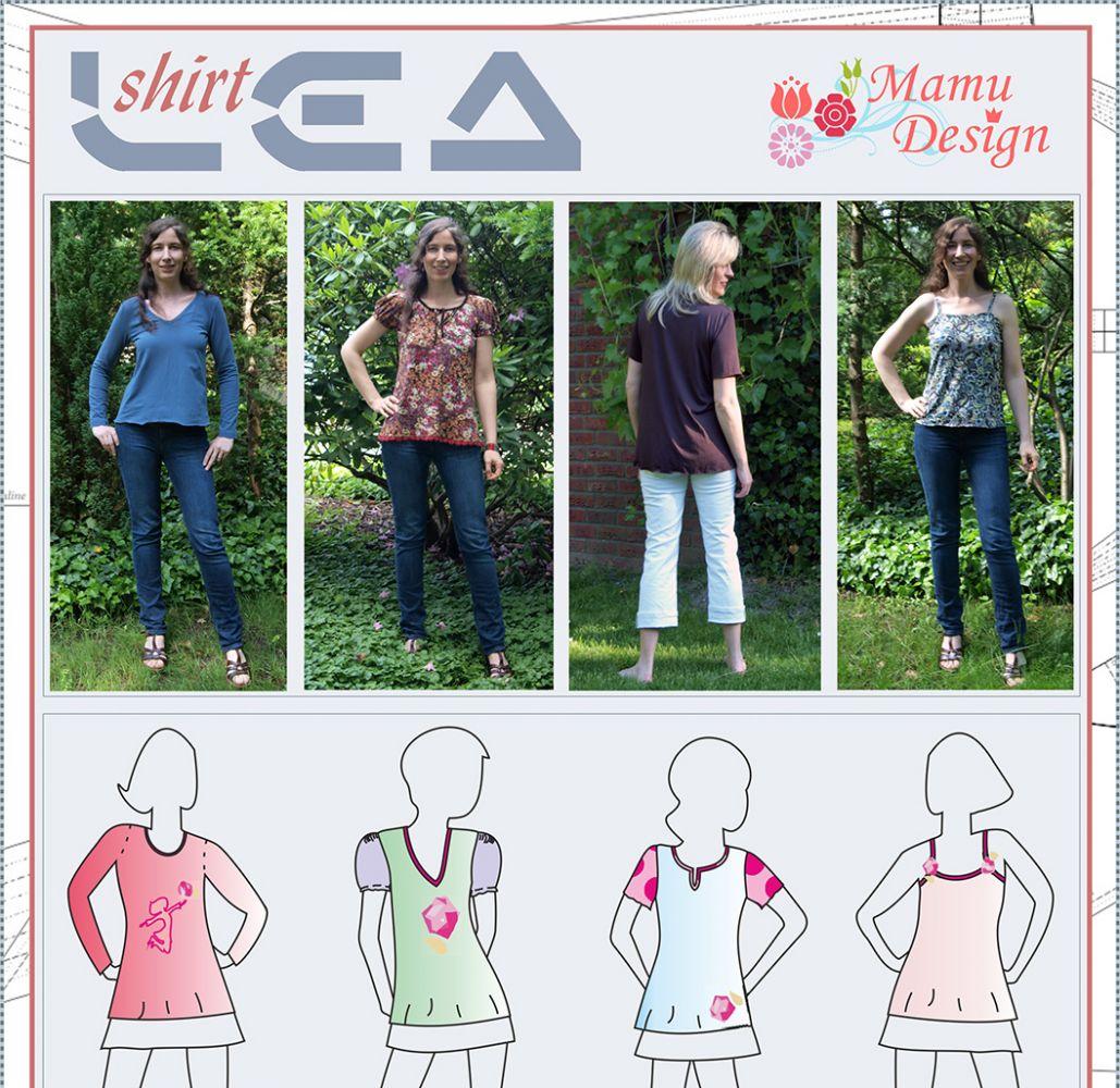 mamu,design,lea,basic,schnittmuster,shirt,la,puffärmel,langarm ...