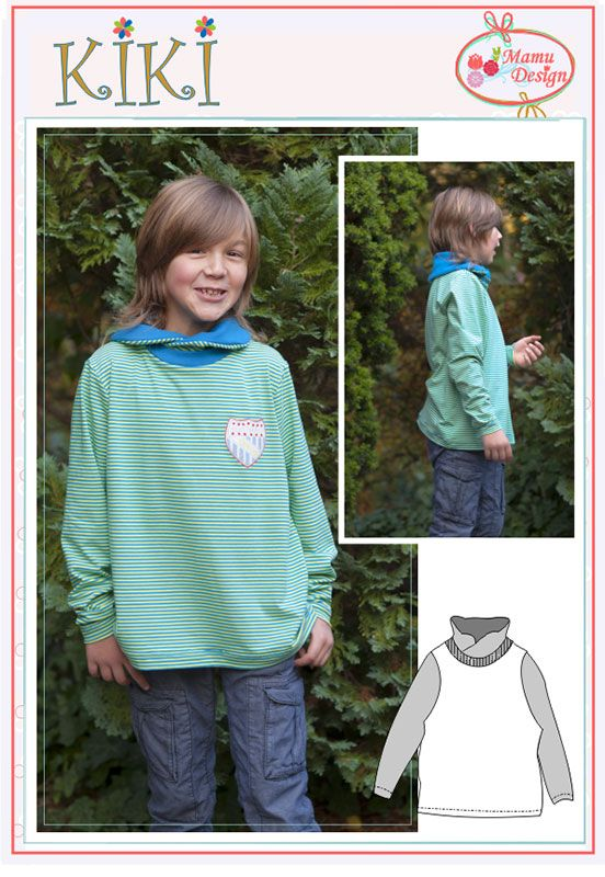Ebook Schnitt KIKI Sweatshirt Shirt Hoodie Kinder Baby