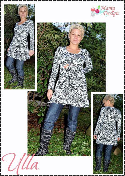 E-Book Schnittmuster ULLA Tunika Shirt Damen Maedchen ...