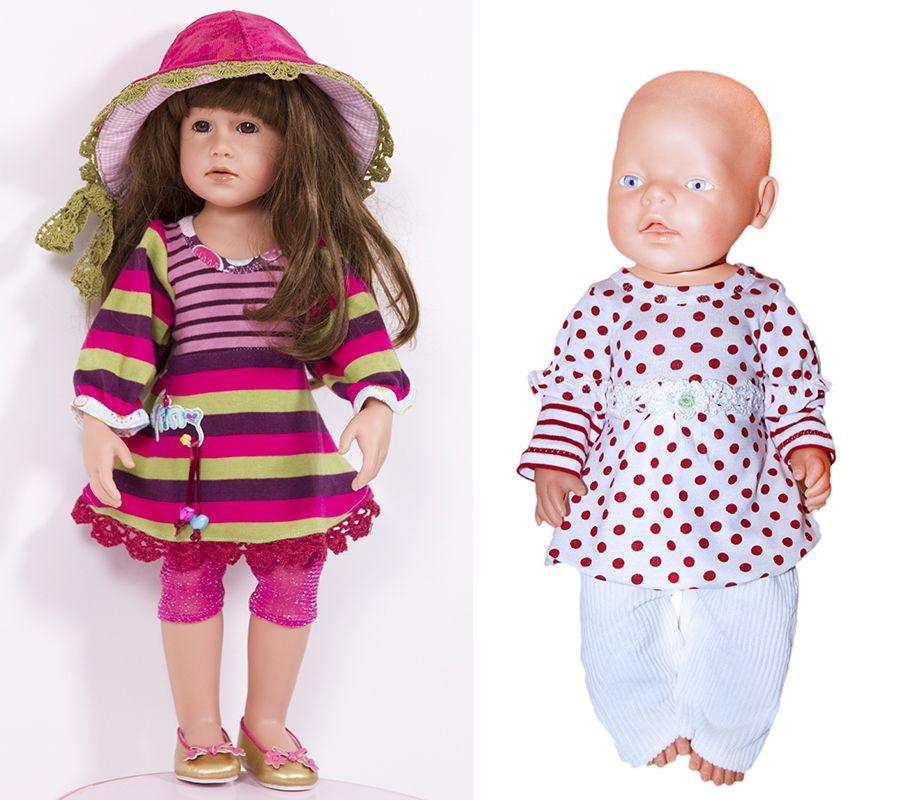 E-Book Puppe ULLA Shirt Kleid - Schnittmuster | Anleitungen zum ...