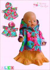Freebook Jacke für Puppen ALEX
