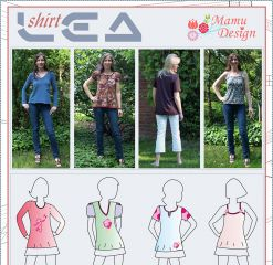 Sewing Instructions LEA pattern woman shirt top
