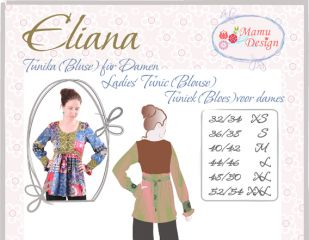 ELIANA pattern for tunic (blouse, shirt) Ladies, Woman