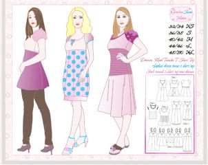 Sewing Instructions DANA pattern woman, blouse, top, tunik, dress