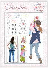 E-Book, Schnittmuster Hängerchen Schürzenkleid CHRISTINA Damen, Mädchen, Baby, Puppe
