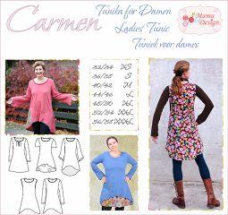 E-Book CARMEN Schnitt Tunika Kleid Damen