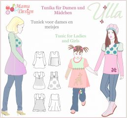 E-Pattern ULLA Tunic, Dress, Shirt for Ladies and Girls