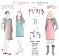 E-Pattern for Women NIYA - Sewing Instructions for Dress, Sweatshirt, Tunic