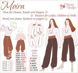 PDF-Anleitung MOIRA Pumphose Damen, Mädchen, Baby, Puppe