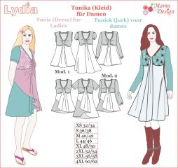 E-Pattern LYDIA Tunic, Dress, Shirt, Top for Ladies