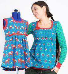 E-Book Schnittmuster VIOLETTA Tunika Shirt Top Kleid Damen Mädchen