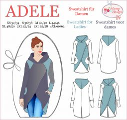 ADELE Pattern Sweatshirt, Hoodie, Long-Shirt for Woman