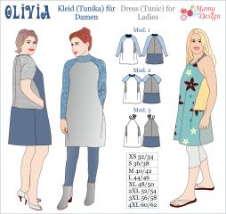Pattern OLIVIA Knee-length Dress, Tunic for Ladies