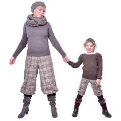 Women Girls Babies MOIRA, Pattern for Trousers, Pants with Long or Three-Quarter Length