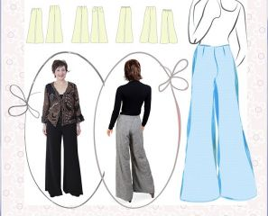 Sewing Instructions MANUELA pattern loose trousers ladies