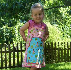 E-Pattern LISALOTTE Instructions Wrap-Around-Dress, Skirt, Apron Woman, Girl