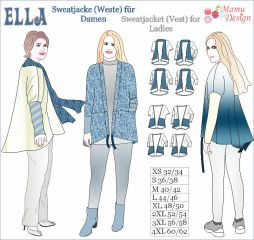 Ella E-Pattern | Ebook Jacket or Vest for Woman Ladies