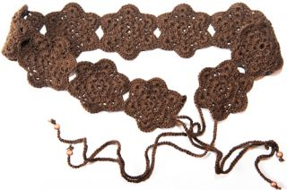 Freebook Crochet Belt with Crochet Flowers 3 Variants