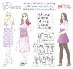 DANA pattern for Woman, Blouse, Top, Tunik, Dress, Shirt