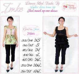 Sewing Instructions IMKE Pattern for Woman Blouse, Top, Tunik, Dress