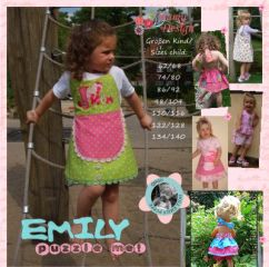 Sewing Instructions Pattern EMILY PUZZLE ME Girl, Doll