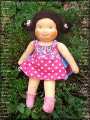 Freebook EMILY Kleid Rock Latzkleid für Puppen