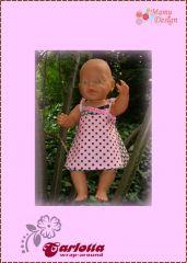 Freebook CARLOTTA Kleid Hängerchen Puppe