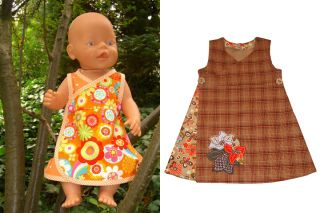 Freebook KATRIN Dress for Dolls