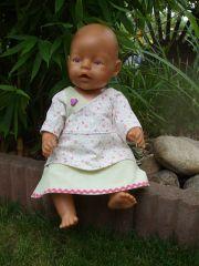Freebook KATRIN Kleid Tunika für Puppen
