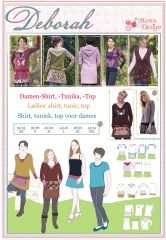 PDF-Anleitung DEBORAH Schnittmuster Sweat-Kleid, -Shirt Damen